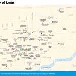 Map of the City of León, Nicaragua