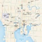 Travel map of Tampa, Florida