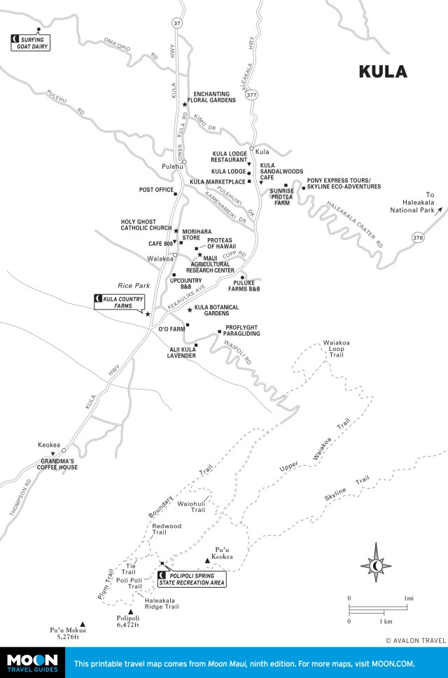 Map of Kula, Hawaii