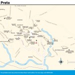 Travel map of Ouro Preto, Brazil