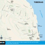 Map of Tiberias, Israel