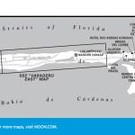 Travel map of Varadero Area, Cuba