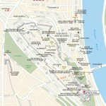 Travel map of Várhegy (Castle Hill) and Central Buda, Budapest