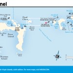 Travel map of Sir Francis Drake Channel, Virgin Islands