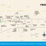Travel map of Ybor City, Florida