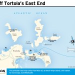 Travel map of Off Tortola's East End, Virgin Islands