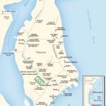 Map of Placencia Village, Belize