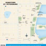 Travel map of Downtown St. Petersburg, Florida