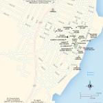 Travel map of Laguna Bacalar