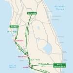 Florida Driving Map.Florida Moon Travel Guides