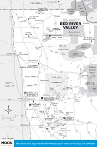 Travel map of Red River Valley, Minnesota