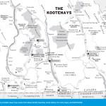 Map of The Kootenays, BC