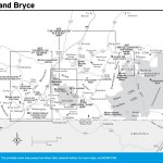 Travel map of Zion and Bryce Naitonal Parks in Utah