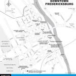 Map of Downtown Fredericksburg, Virginia