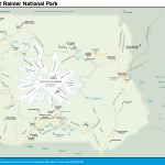 Travel map of Mount Rainier National Park, Washington