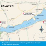 Travel map of Lake Balaton, Hungary