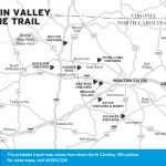 Map of the Yadkin Valley Wine Trail, North Carolina