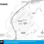 Map of Fernie, BC