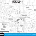 Map of Downtown Roanoke, Virginia