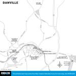 Map of Danville, Virginia