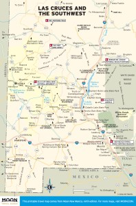Travel map of Las Cruces and Southwest New Mexico