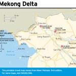 Travel map of The Mekong Delta in Vietnam