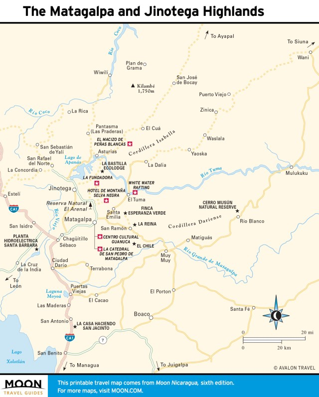 Maps - Nicaragua 6e - Matagalpa and Jinotega Highlands
