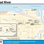 Travel map of Hood River, Washington