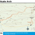 Trail map of the Delicate Arch, Utah