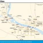 Travel map of the Tri-Cities, Washington