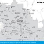 Travel map of Waterton, Alberta