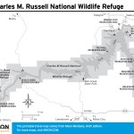 Travel map of Charles M. Russell National Wildlife Refuge in Montana