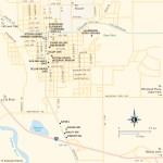Travel map of Ellensburg, Washington