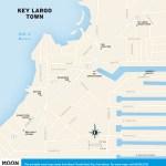 Travel map of Key Largo Town, Florida