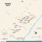 Color travel map of Nasca City, Peru
