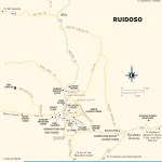 Travel map of Ruidoso, New Mexico