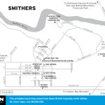Map of Smithers, BC