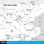 Map of The Tri-Cities, TN