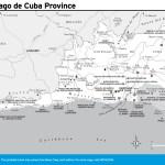 Travel map of Santiago de Cuba Province