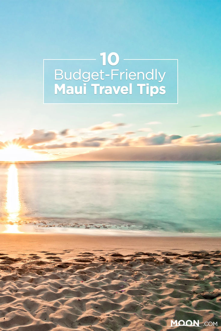 Maui Budget Travel Tips Pinterest graphic