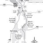 Travel map of The Great Western Trail in Utah