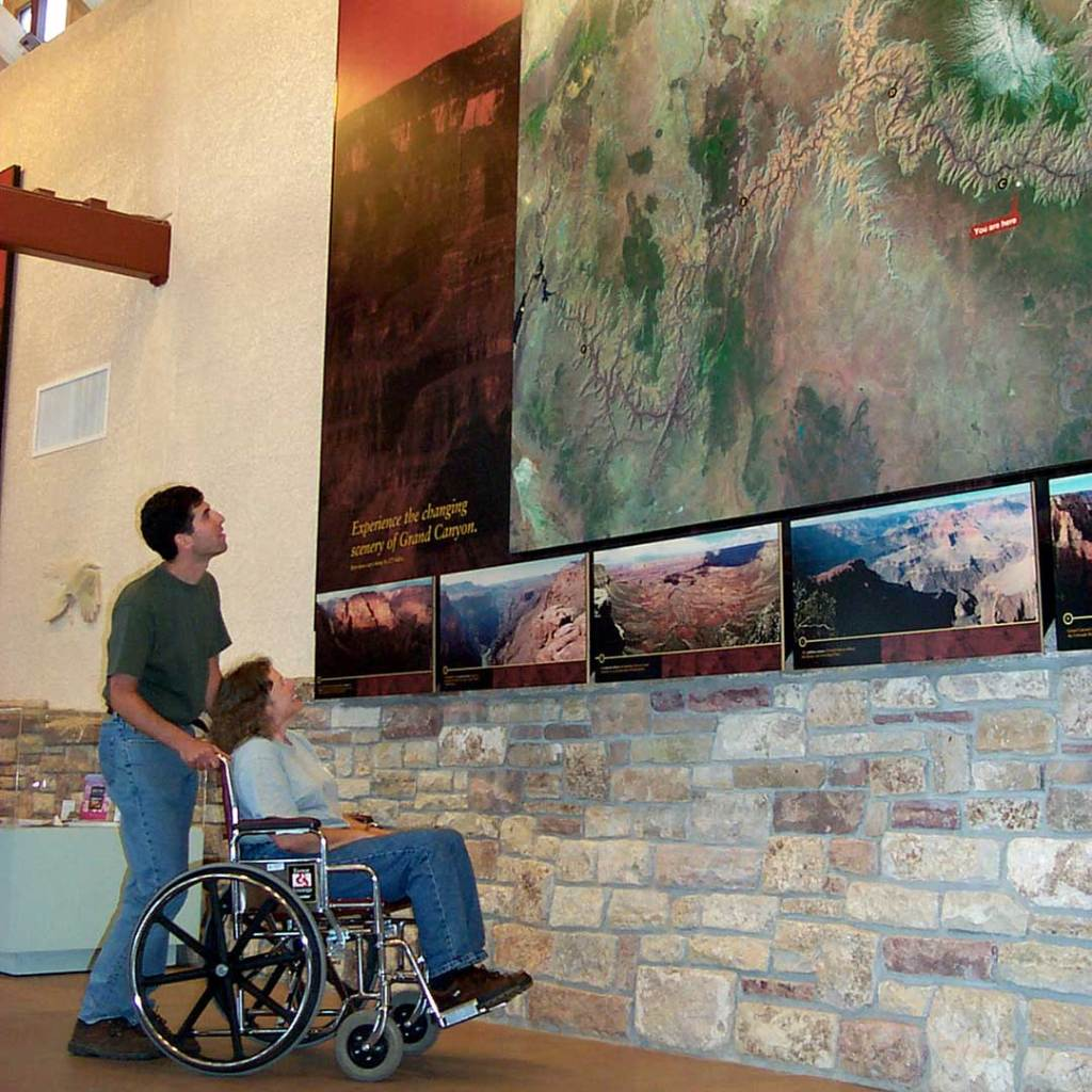 Inside the Visitors Center at the Grand Canyon. Photo courtesy of the National Park Service.