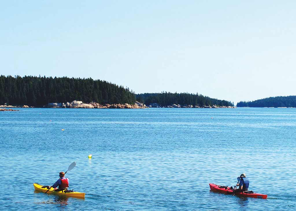 Sea kayakers favor Deer Isle's craggy coastline