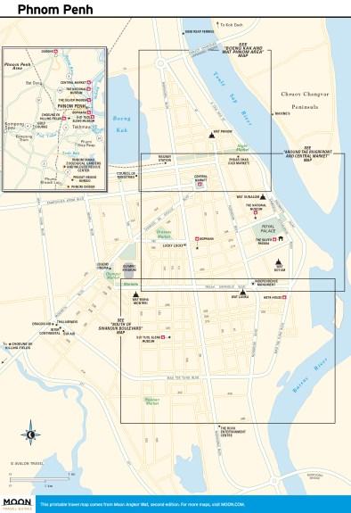 Travel map of Phom Penh