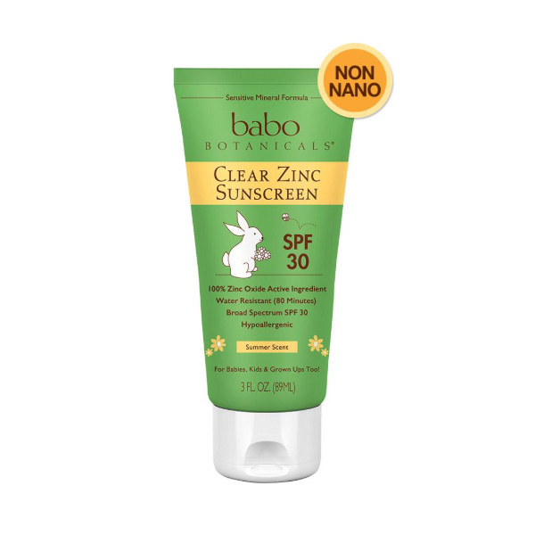 green tube of zinc sunscreen