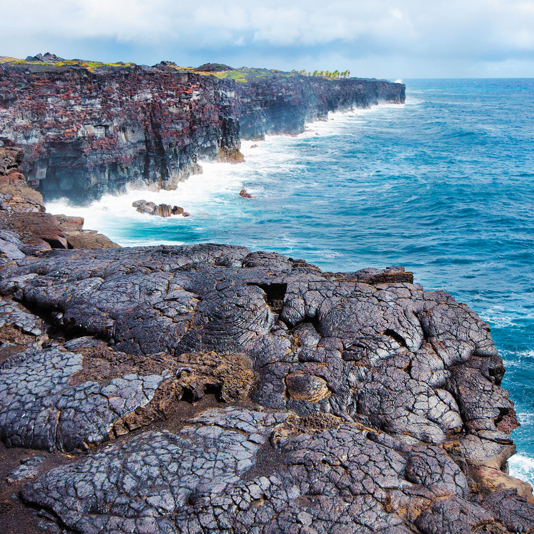 volcanic rock on the coast of the Big Island