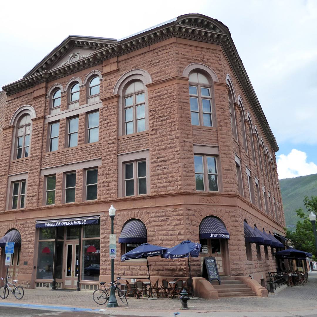 the historic Wheeler Opera House in Aspen, Colorado