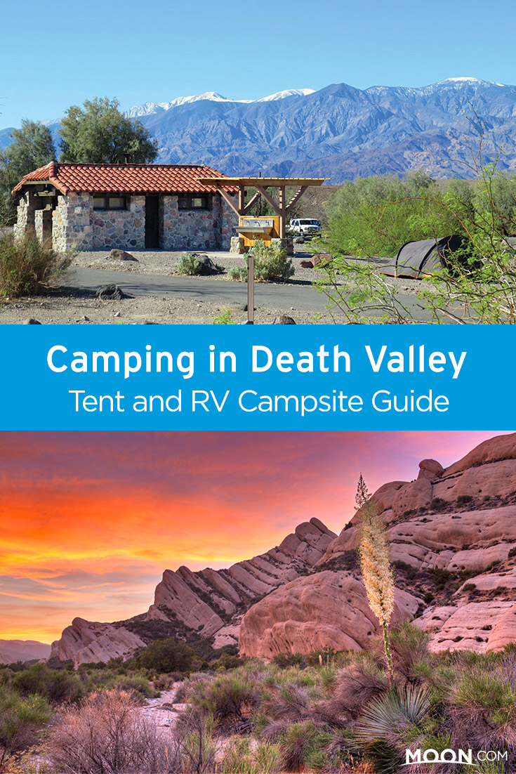 Death Valley campgrounds Pinterest graphic
