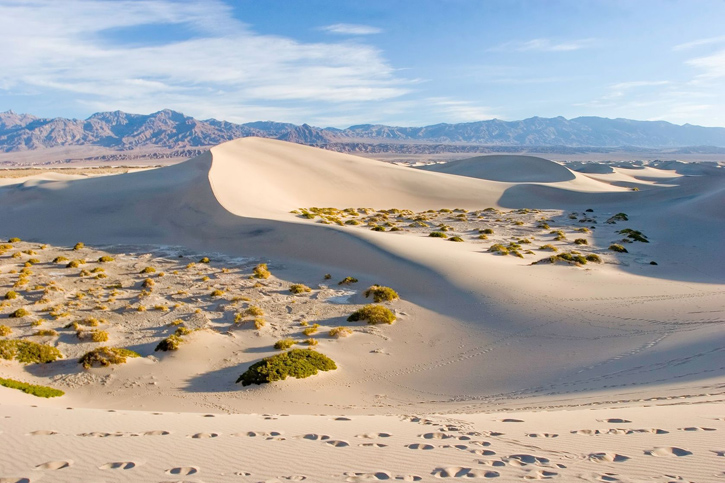 Sand dunes in Death Valley, California.