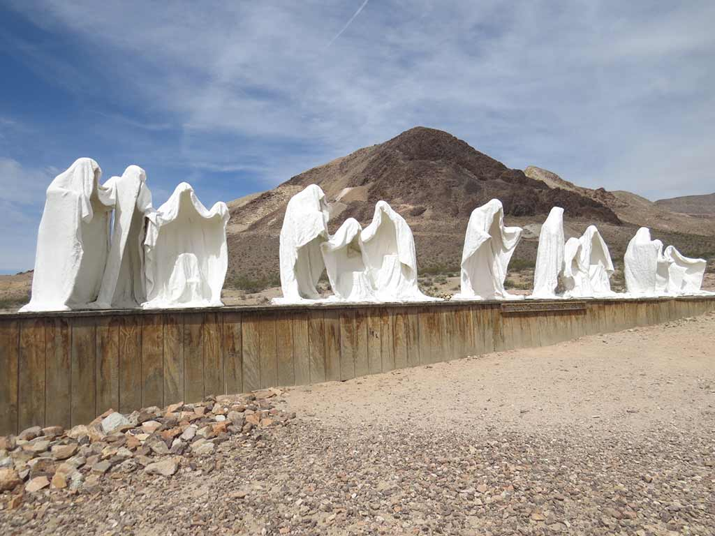 Ghostly plaster figures in Death Valley